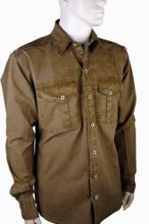 """Camicia in Cotone """"Stonewash"""" - marrone"""